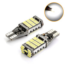 2PCS Canbus T15 W16W 45SMD Car Backup Reverse Light For Toyota Corolla Camry Prado White Stop Rear Lamp Error Free 6000K 12V(China)