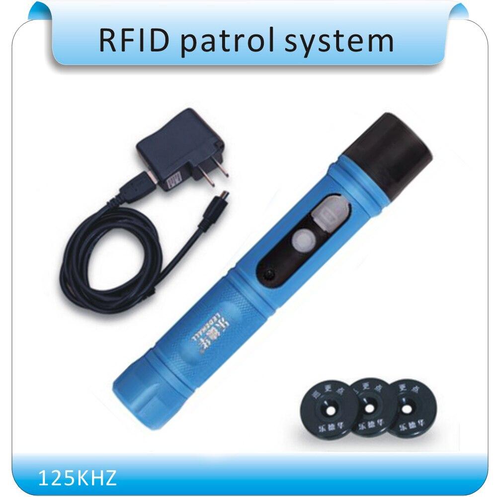 Frere gratuite Étanche IP67 Rugby RFID Tour de Garde Patrouille Système, Baguette de Patrouille De sécurité, Dispositif Tour De Garde avec LED lumière