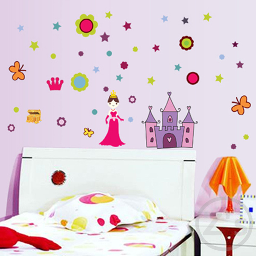 Aliexpress Princess Castle Wall Stickers For Kids Rooms Decorations Nursery Decor Children Poster Princessdecal From Reliable