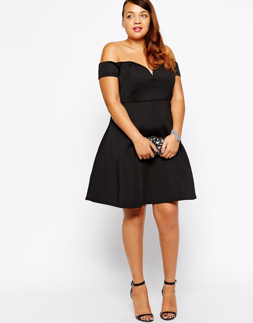 Women Plus Size Dress Short Sleeve Strapless Backless Dress For Ladies Off The Shoulder Black