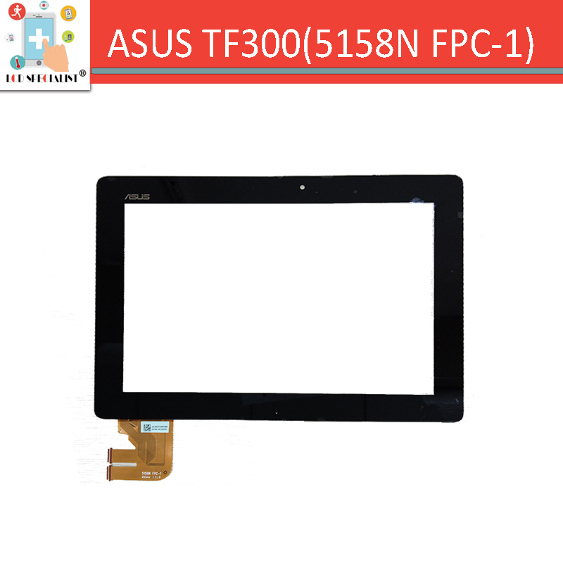 ( 5158N FPC-1 ) 10.1 For ASUS Eeepad Transformer TF300 TF300T touch screen digitizer sensor glass Black Replacement Parts