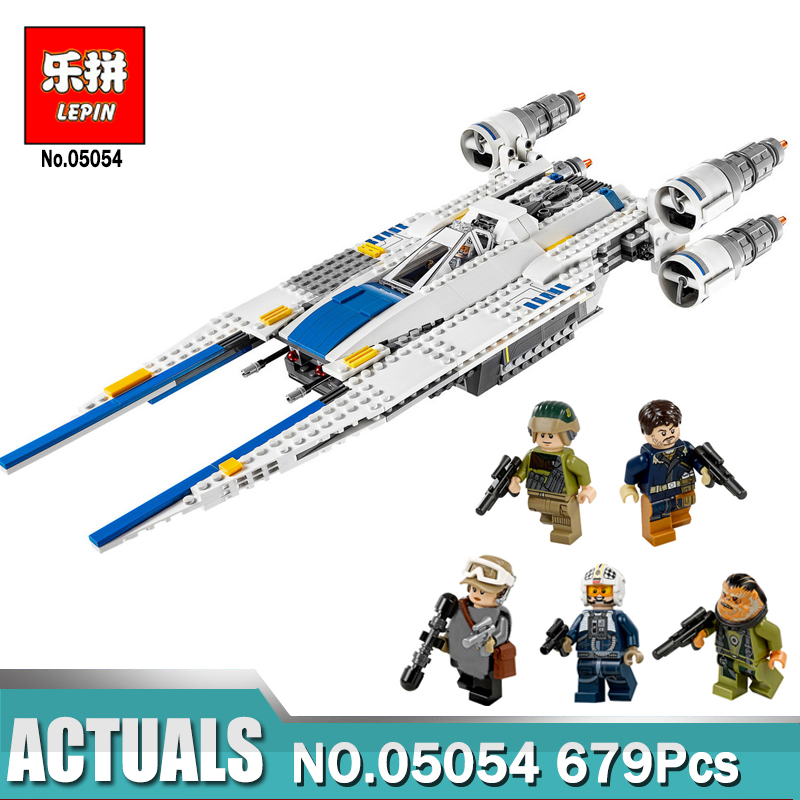 Lepin 05054 Compatible with LegoINGlys Star Wars The Rebel U-Wing Fighter 75155 Building Blocks Educational Toys For Children new lepin 16009 1151pcs queen anne s revenge pirates of the caribbean building blocks set compatible legoed with 4195 children