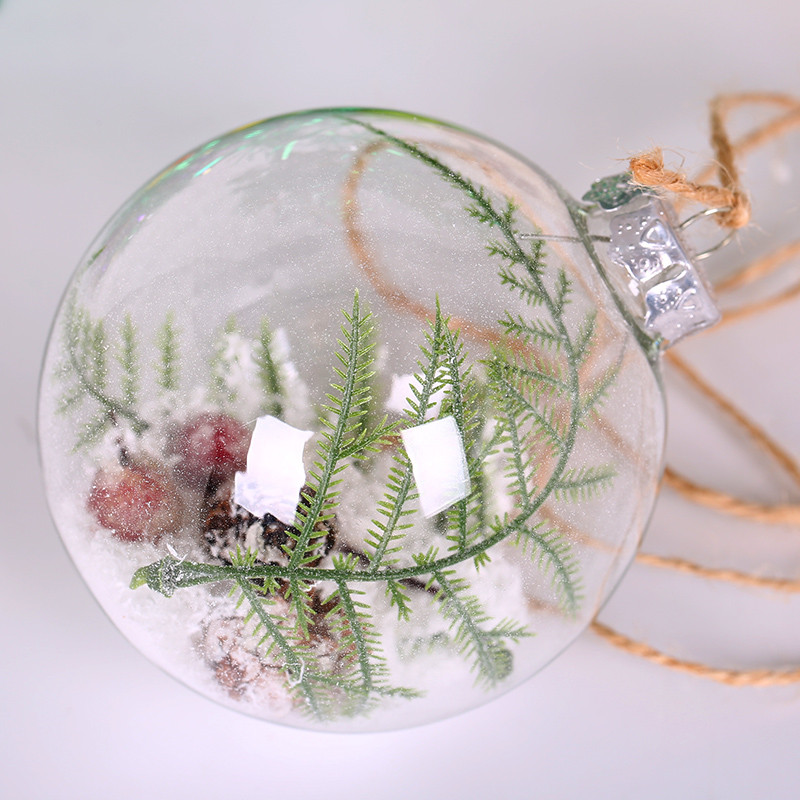 Free Shipping Different Small Package Glass Christmas Ball Diameter =6cm 8cm 10cm 12cm 15cm Transparent Clear Glass Globe