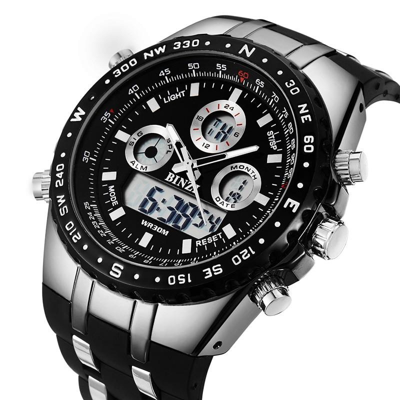 Klockor Män SPOTALEN Märke Lyx Sport Klockor Herr Armbandsur Militär Digital LED Klockor Kvarts Armbandsur Relogio Masculino
