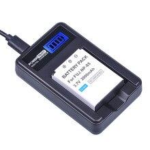 PowerTrust 1 Pc NP-85 NP85 NP 85 Recarregável Baterias e LCD USB Carregador para Fujifilm SL280 SL260 SL240 SL245 SL1000 S1 SL300