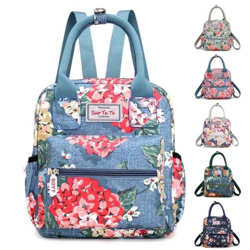 Floral Nappy Bag Fashion Mummy Bags Large Diaper Bag Backpack Baby Organizer Maternity Bags For Mother Handbag Nappy Backpack