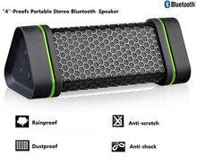 Rainproof Dustproof Antiscratch Antishock Portable Bluetooth Speaker Mini Bluetooth 2.1 EDR Stereo Outdoor Black Free Shipping