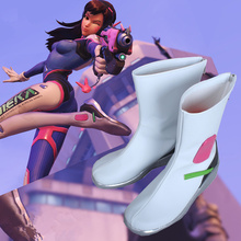 Game Character D.VA Cosplay Costumes Shoes DVA Women Ganme White