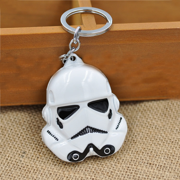 5Strands/Lot iron ring Star Wars Character enamel more colors 70x55mm Hole:26mm Length:Approx 3-3.5 Inch Zinc Alloy Key Chain