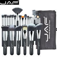 JAF 24 шт. кисти для макияжа инструменты 100% Vegan визажист Kit Кисти для макияжа Профессиональный набор кистей # J2425YC-B