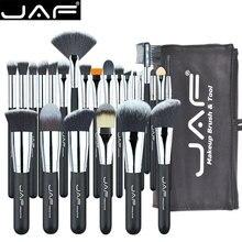 JAF 24pcs 메이크업 브러쉬 도구 100% 비건 메이크업 아티스트 키트 브러쉬 메이크업 전문 브러쉬 세트 # J2425YC B