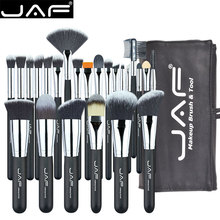 JAF 24pcs Makeup Brushes Tools 100% Vegan Make Up Artist Kit Brushes for Makeup Professional Brush Set #J2425YC B