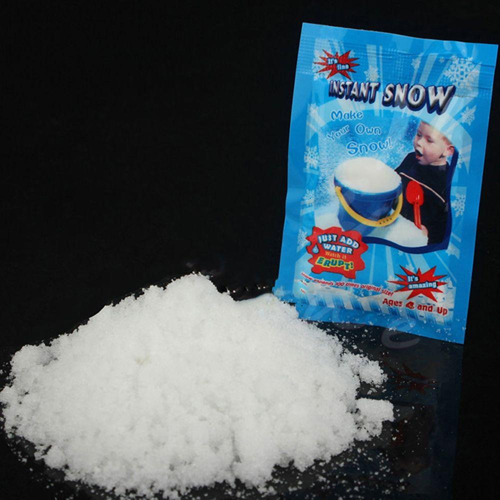 1 упак. искусственный снег мгновенный снег порошок пушистый Снежинка супер абсорбент замороженная вечерние магия реквизит Рождественская ...
