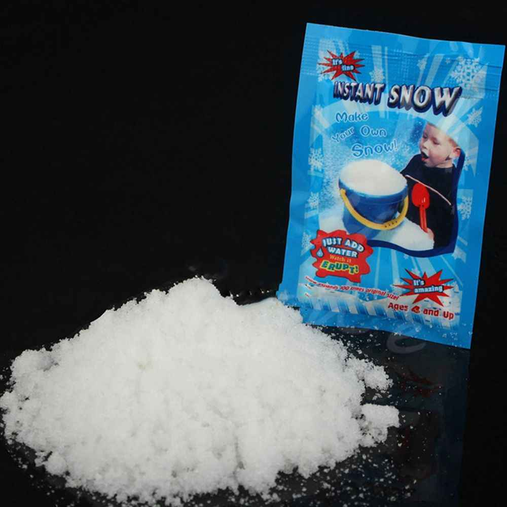 1 Pack Artificial Snow Instant Snow Powder Fluffy Snowflake Super Absorbant Frozen Party Magic Prop Christmas Party Decor E