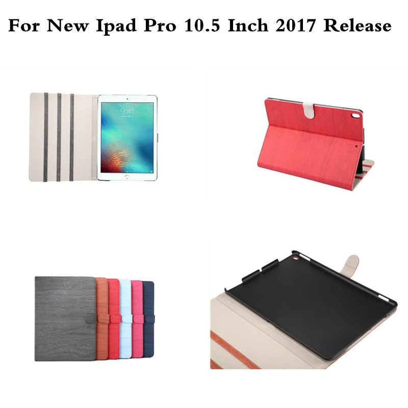 Retro wood grain pattern Stand shell skin Funda Luxury PU Leather Case for Apple iPad Pro 10.5 inch A1701 A1709 Tablet Cover
