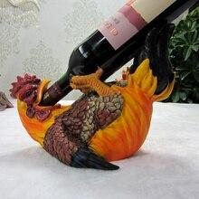 Personalisierte flasche wein halter kreative tier weinhalter rack lustige liegen cock figurine tisch weinhalter