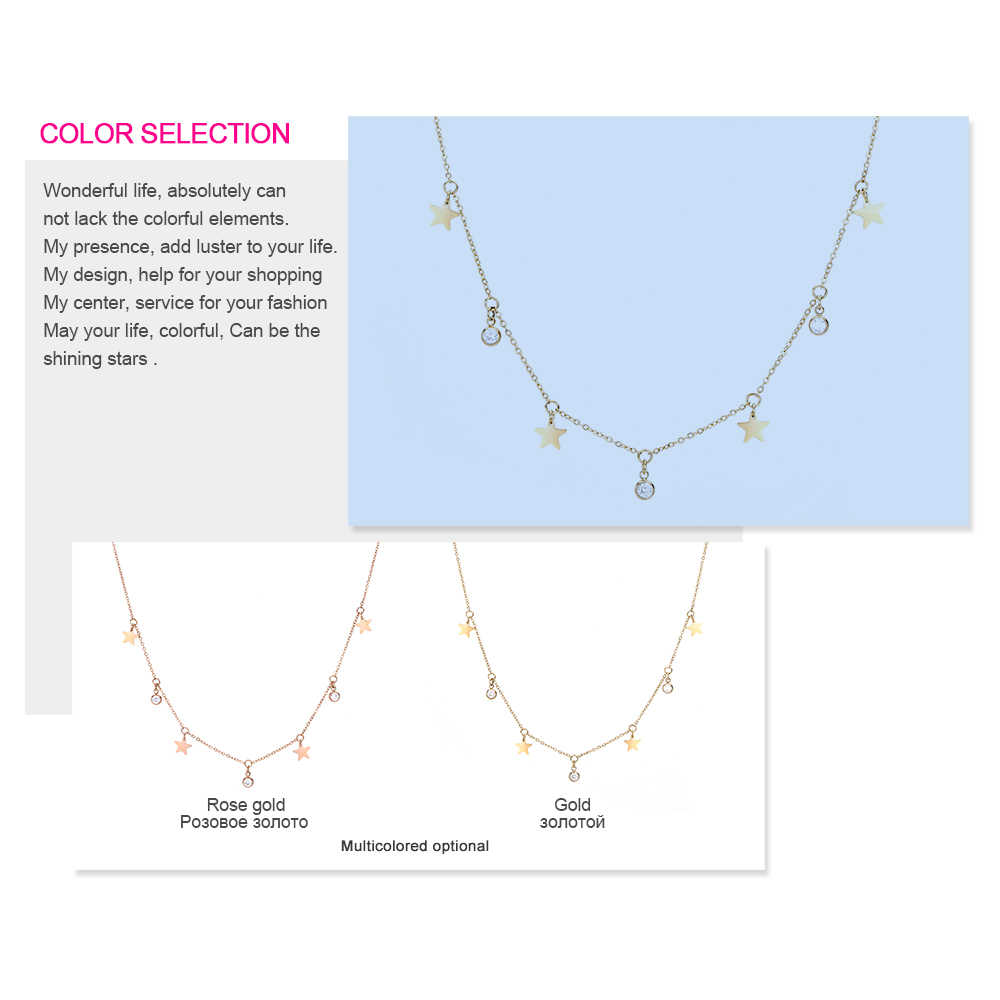 Statement Neckalce for Women Gold Color Stainless Steel Chain Charming Necklace Star Pentagram CARLIDANA Fashion Jewelry