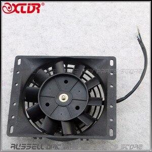 Radiator Thermo Electric Cooling Fan For 200c 250cc Quad Dirt Bike ATV Buggy 12V Zongshen Loncin Lifan Engine(China)