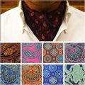 Homens Da Moda Paisley Floral Festa de Casamento Ascot Cravat Ties BWTYX0050