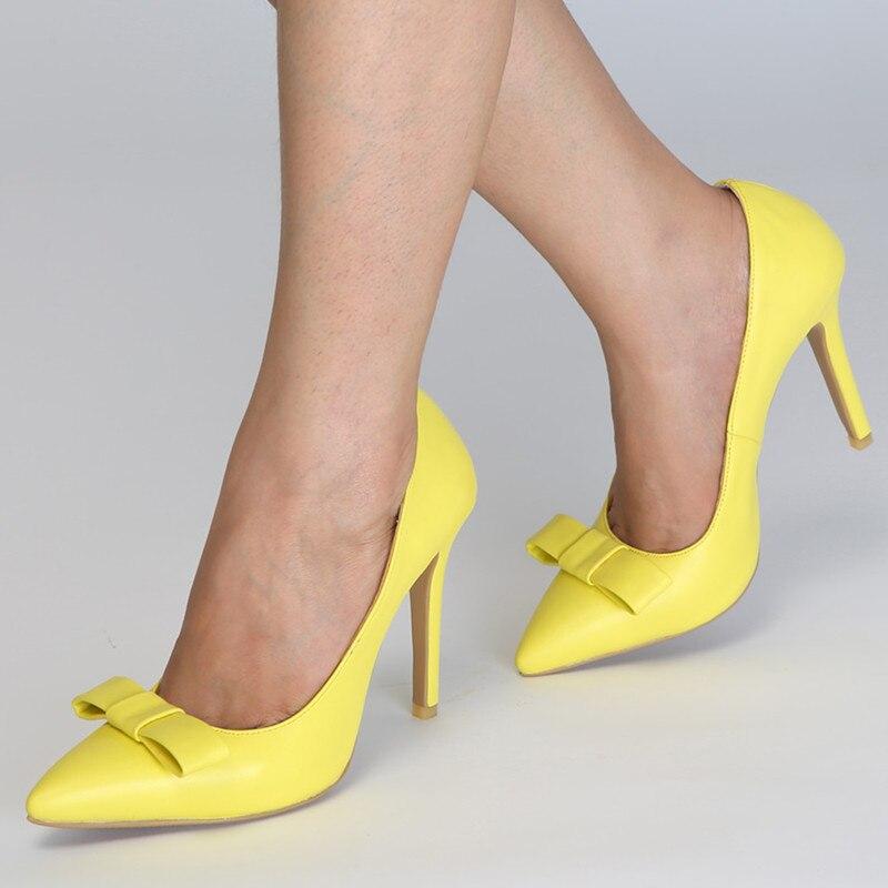 Talons Taille Femmes Or New 47 Bowknot Mstacchi Mariage Bow Plus La Chaussures Tie Femme Stiletto Pointu Doux Retour Papillon Hauts Pompes De a7qqw1xEn