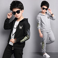 Kids Boys Spring / Autumn 2017 new 2pcs set baby boys clothing fashion sports cardigan big virgin suit 6/7/8/9/10/11/12/13 years