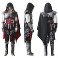 Assassin II Ezio Black Creed Edition Uniform Suit Halloween Men Cosplay Costume Expedited Shipping