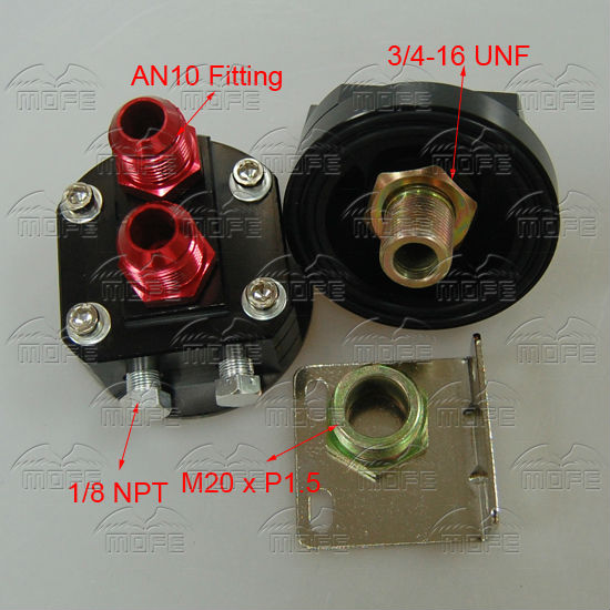 An Engine Oil Filter Relocation Kit Male Unf M X P Fittings Black on Oil Filter Relocation Kit