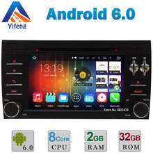 7″ Android 6 Octa Core A53 64-Bit 2GB RAM 32GB ROM Car DVD Multimedia Player Radio Stereo GPS For Porsche Cayenne 2003-2010 DAB+