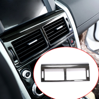 Stainless Steel Black Brushed Center Air Conditioning Vent Frame Trim For Land Rover Discovery Sport 2015 17