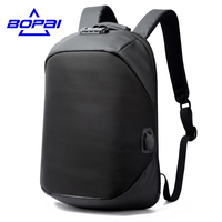BOPAI Luxury Coded Lock Backpack For Travelling Business Men S USB Charge Port Backpack Anti Theft