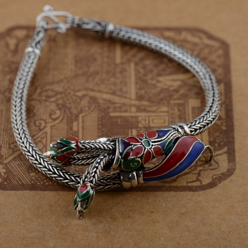 Deer King jewelry wholesale silver S925 silver bracelet Shaolan female antique style explosion gift