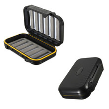 Bobing 13x9x3.8cm Waterproof Fishing Tackle Boxes Double Sides Foam ABS Fly Fishing Lure Baits Fishhook Storage Case Cover Box