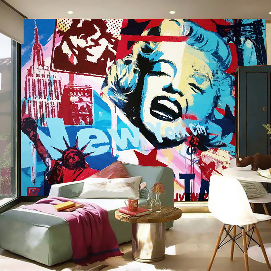 online buy wholesale graffiti wallpaper from china graffiti wallpaper wholesalers. Black Bedroom Furniture Sets. Home Design Ideas