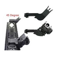 45 Degree Adjustable Tactical Hunting Flip Up Front Rear Rapid Transition Backup Iron Sight Set High