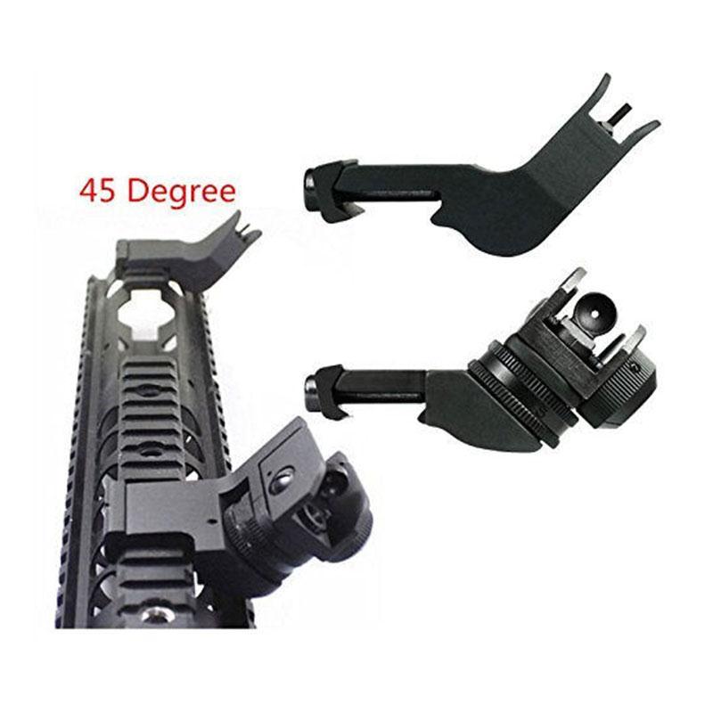 45 Degree Adjustable Tactical Hunting Flip Up Front Rear