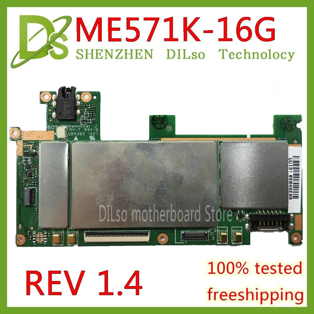KEFU ME571K For ASUS Google Nexus 7 ME571KL ME571K 32GB motherboard System Board REV 1.4 16GB original board 100% Test work ipc board nupro 841 rev 1 0 100% test