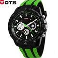 OTS Brand Men Casual Quartz Watch Fashion Rubber LED Digital Attack Sports Watch Dual Movement Multifunction Military WatchesATM