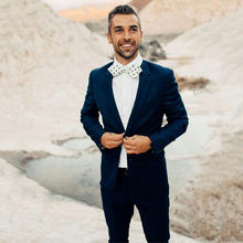 Последний дизайн темно синие мужские свадебные костюмы со штанами