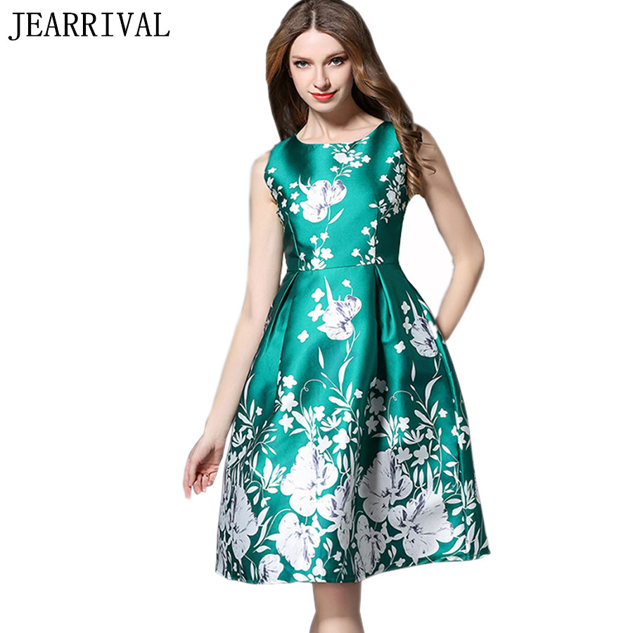 ᗕ2017 New Runway Designer Summer Dress Women European Style Vintage ...