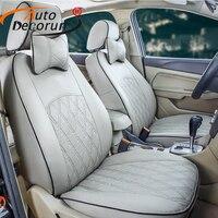 AutoDecorun искусственная кожа Чехлы для мангала автомобиля Ford mondeo 3 4 сиденья подушки Чехлы под заказ стульчики Детские комплект 100% покрытие пер
