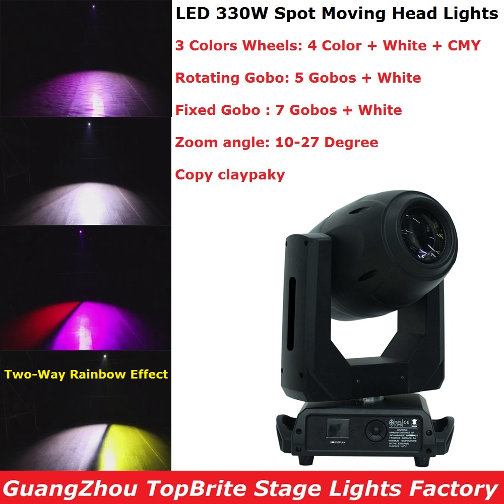 330W Spot LED Lyre Moving Head Lights Gobo LED Moving Head Zoom Lights Party Lights Dj Stage Disco Lights With CMY Color Mixing