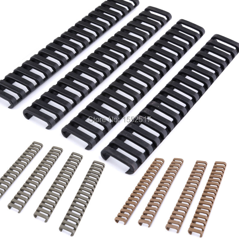 FIRE WOLF 4pcs New 18-Slot Picatinny Ladder Rail Panel Handguard Protector Resistant Cover