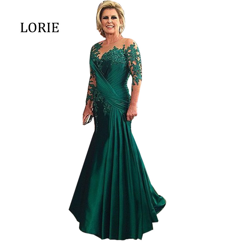 Emerald green long dresses