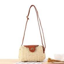 53459836a963 2019 богемное соломенные сумки для Для женщин пляжные сумки летние Винтаж  плетеная Сумка из ротанга ручной