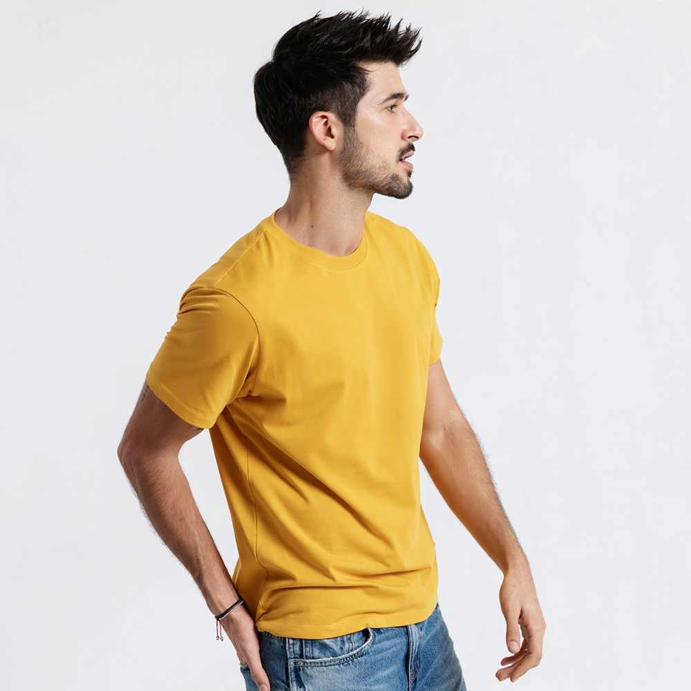 SIMWOOD 2019 Summer New T-Shirt Men 100% Cotton Solid Color Casual t shirt Basics O-neck High Quality Plus Size Male Tee 190004