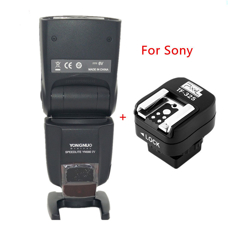 Yongnuo Manual Flash Speedlite with Pixel TF325 Hotshoe Adapter for Sony A900 A850 A750 A700 A550 A500 A380 A350 A330 meyin wired remote shutter release for sony dslr a900 a850 a700