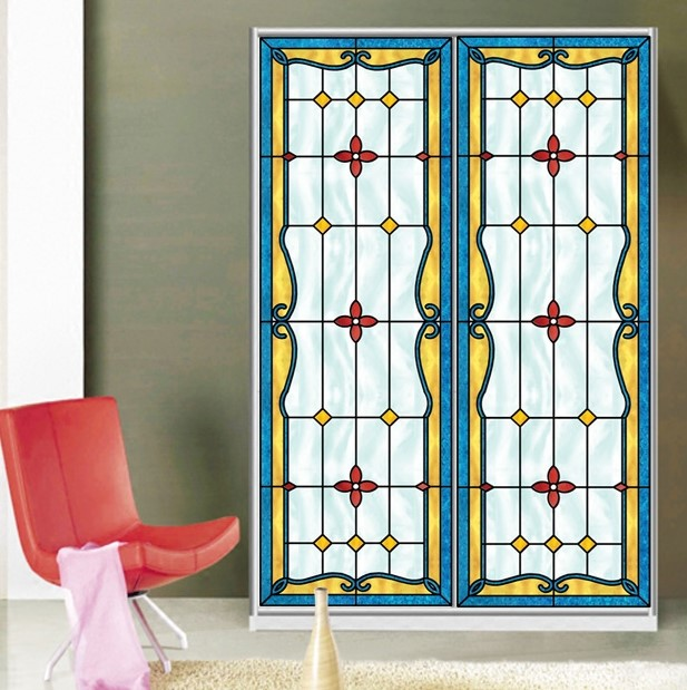 Custom Size Self Adhesive Window Glass Films Sticker Paper Door Stickers  Vintage European Style Art Translucent N1101