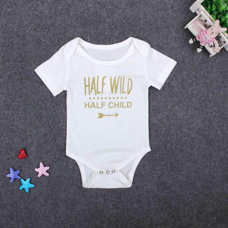 8c3d15fa130b0 Fashion Summer White Baby Bodysuits 4-24Months Twins Baby Boy Girl Clothes  1st Birthday Gift For Babies Newborn Baby Clothing