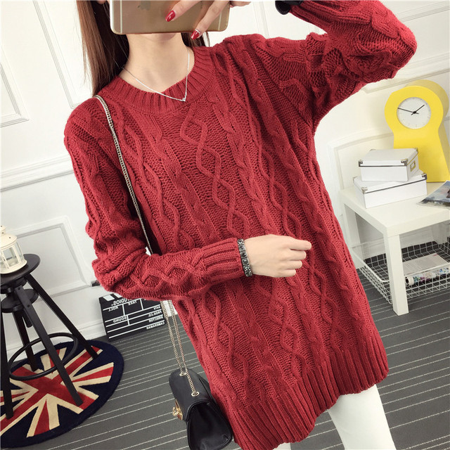 OHCLOTHING 6602 real ladies tee twist a long paragraph sweater dress 35 2