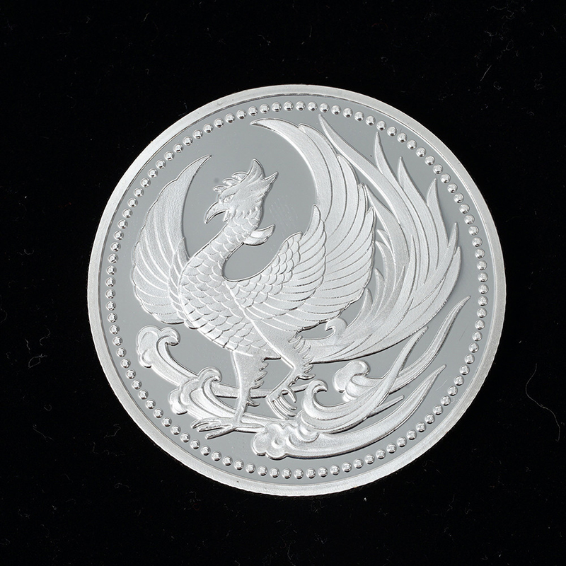 Ancient silver phoenix commemorative coins